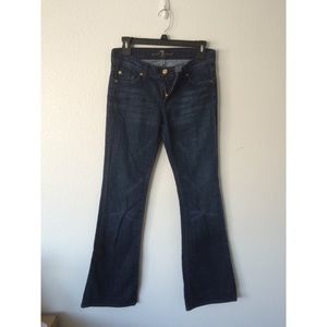 7FAM Low Rise Dark Wash Bootcut Jeans Size 27